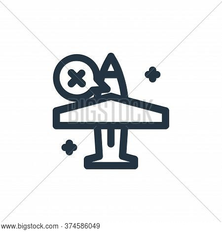plane icon isolated on white background from coronavirus collection. plane icon trendy and modern pl