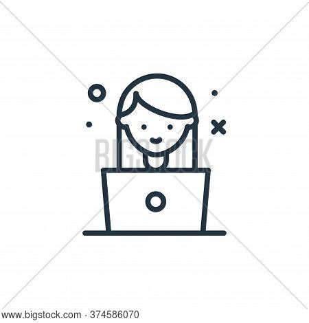 girl icon isolated on white background from work from home collection. girl icon trendy and modern g