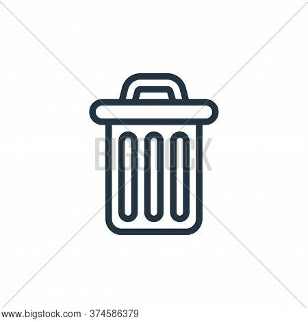 trash bin icon isolated on white background from miscellaneous collection. trash bin icon trendy and