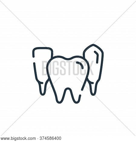 teeth icon isolated on white background from dental care collection. teeth icon trendy and modern te