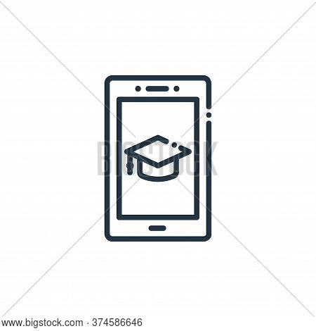 online education icon isolated on white background from online learning collection. online education