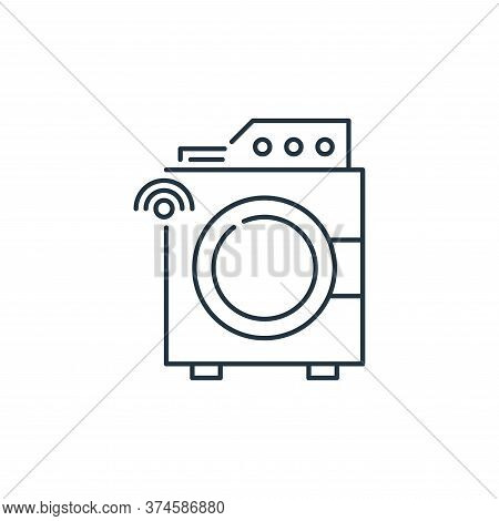 washing machine icon isolated on white background from internet of things collection. washing machin