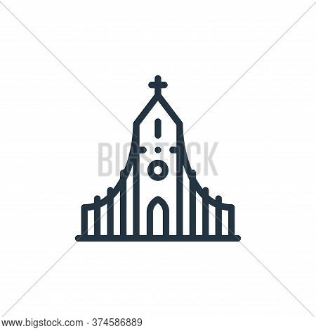 church icon isolated on white background from europe collection. church icon trendy and modern churc