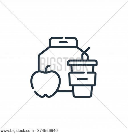 lunch icon isolated on white background from academy collection. lunch icon trendy and modern lunch