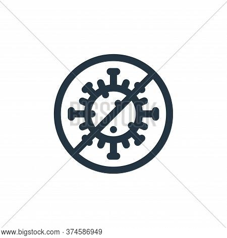 no virus icon isolated on white background from health collection. no virus icon trendy and modern n