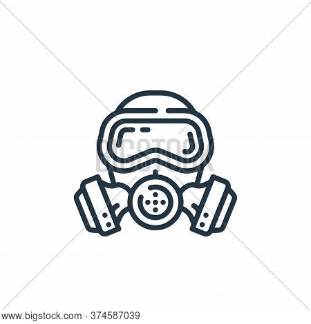 gas mask icon isolated on white background from virus transmission collection. gas mask icon trendy