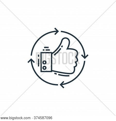 thumbs up icon isolated on white background from environment and eco collection. thumbs up icon tren