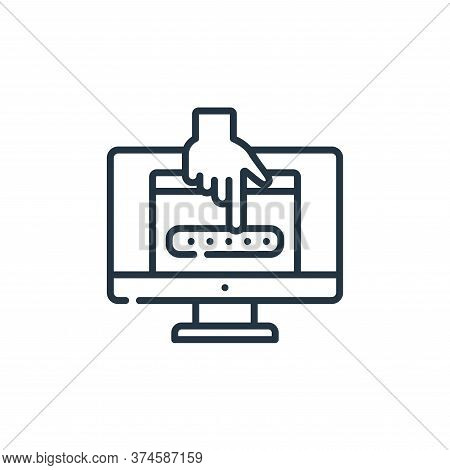password icon isolated on white background from hacker collection. password icon trendy and modern p