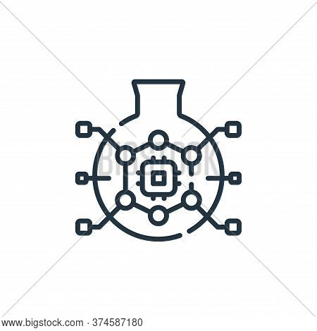 research icon isolated on white background from robotics collection. research icon trendy and modern