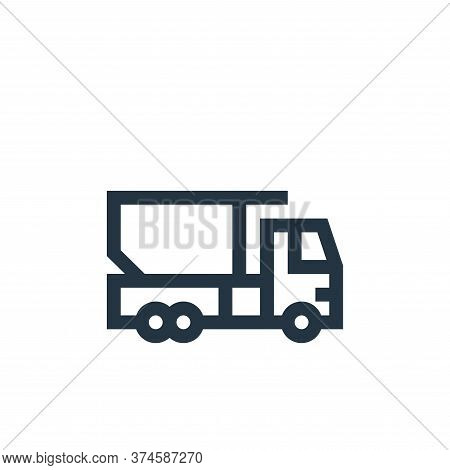 truck icon isolated on white background from industrial process collection. truck icon trendy and mo
