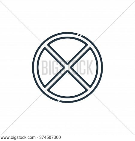 no stopping icon isolated on white background from signaling collection. no stopping icon trendy and