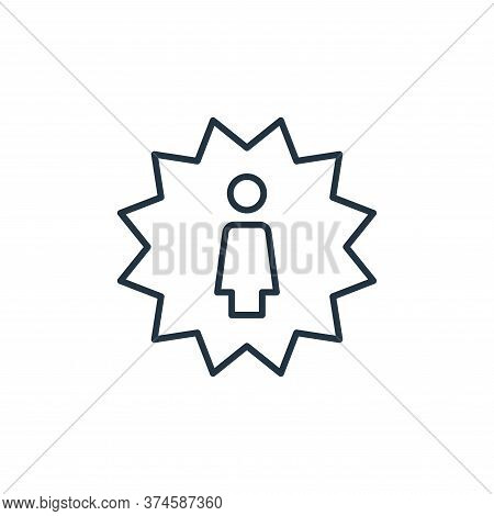 best employee icon isolated on white background from leadership collection. best employee icon trend