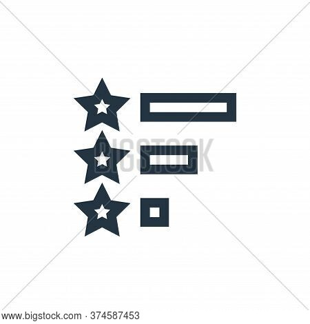 rating icon isolated on white background from feedback and testimonials collection. rating icon tren