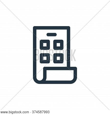 foldable phone icon isolated on white background from technology of the future collection. foldable