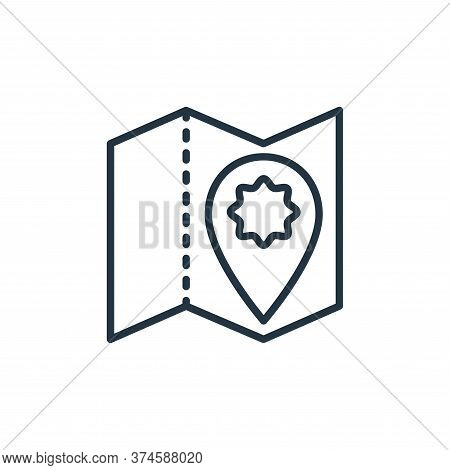 map icon isolated on white background from stop virus collection. map icon trendy and modern map sym