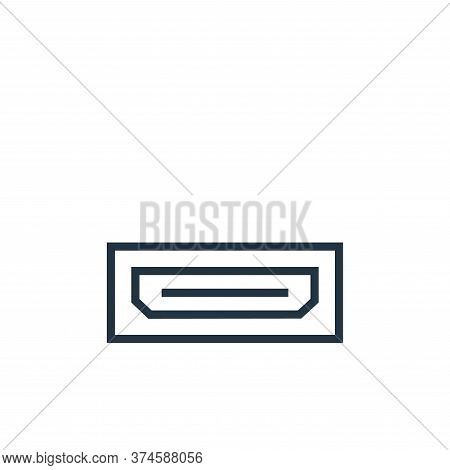 hdmi port icon isolated on white background from hardware collection. hdmi port icon trendy and mode