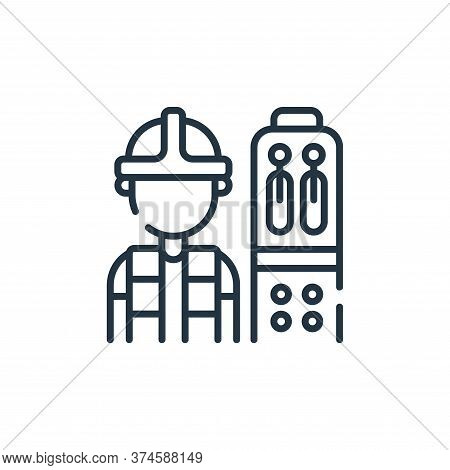 operator icon isolated on white background from industrial process collection. operator icon trendy