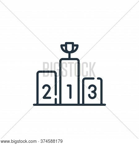 podium icon isolated on white background from fame collection. podium icon trendy and modern podium