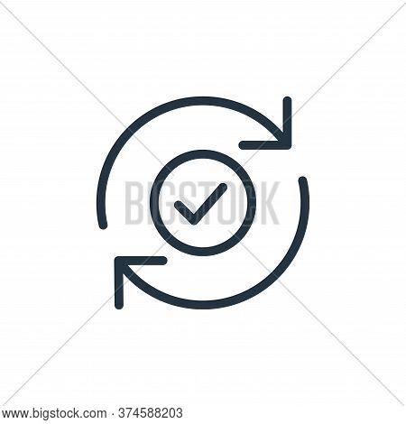 checked icon isolated on white background from data transfer collection. checked icon trendy and mod