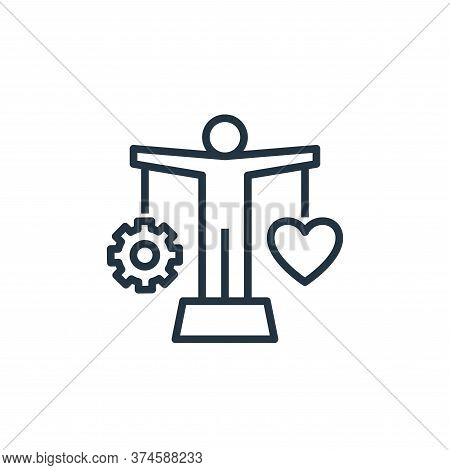 balance icon isolated on white background from work life balance collection. balance icon trendy and