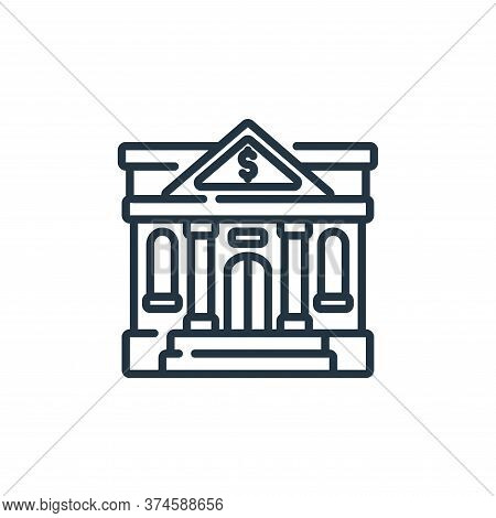 bank icon isolated on white background from banking and money collection. bank icon trendy and moder