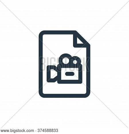 video icon isolated on white background from document and files collection. video icon trendy and mo