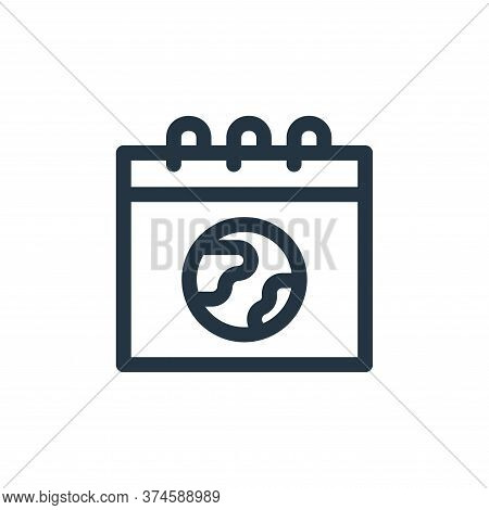 calendar icon isolated on white background from mother earth day collection. calendar icon trendy an