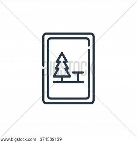 camping icon isolated on white background from signals and prohibitions collection. camping icon tre