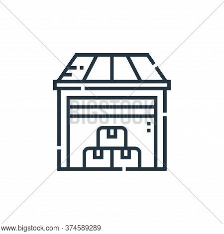 warehouse icon isolated on white background from delivery collection. warehouse icon trendy and mode