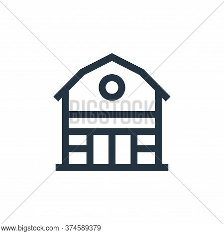 barn icon isolated on white background from holland collection. barn icon trendy and modern barn sym