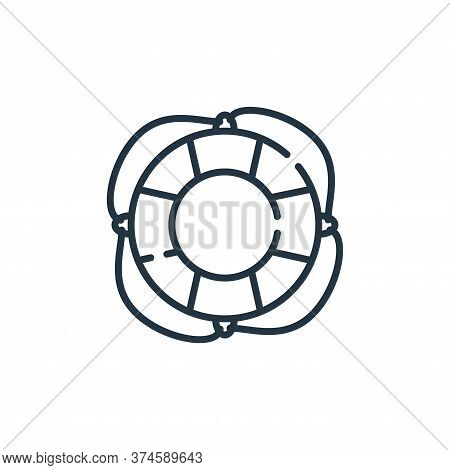 lifebuoy icon isolated on white background from hope collection. lifebuoy icon trendy and modern lif