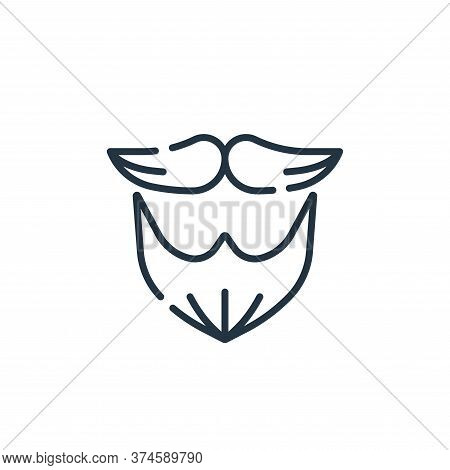 beard icon isolated on white background from hairdressing and barber shop collection. beard icon tre