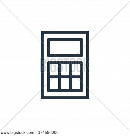 calculator icon isolated on white background from banking and finance flat icons collection. calcula