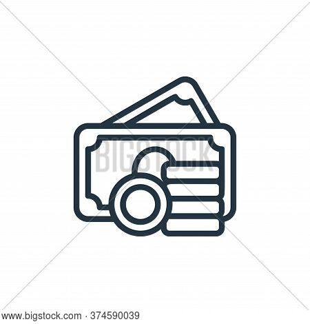 asset icon isolated on white background from money collection. asset icon trendy and modern asset sy