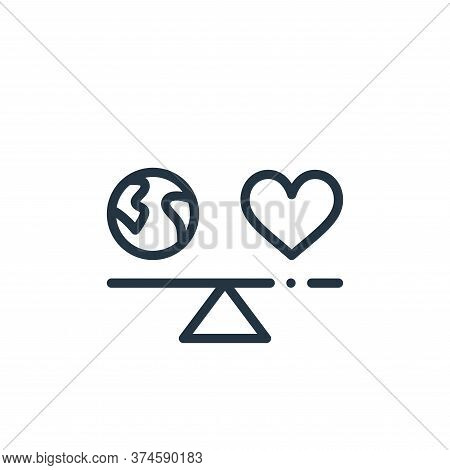 balance icon isolated on white background from world love collection. balance icon trendy and modern
