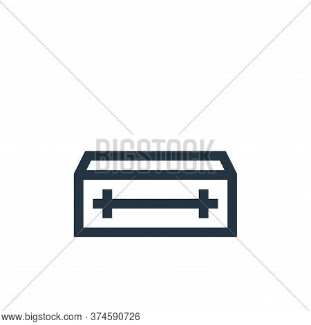 coffin icon isolated on white background from insurance collection. coffin icon trendy and modern co