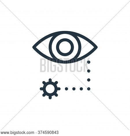 eye icon isolated on white background from coronavirus collection. eye icon trendy and modern eye sy