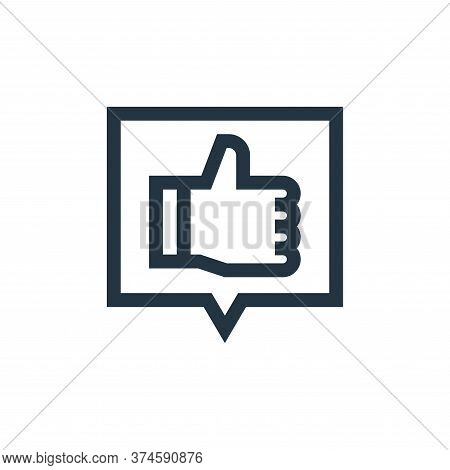 good review icon isolated on white background from marketing and growth collection. good review icon