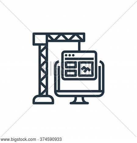 development icon isolated on white background from user experience collection. development icon tren