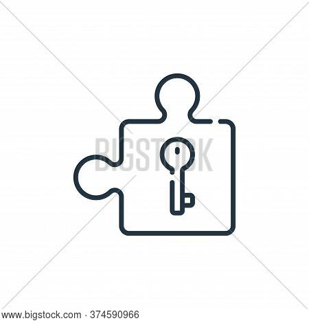 puzzle part icon isolated on white background from life skills collection. puzzle part icon trendy a