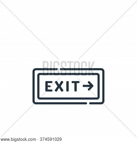 exit icon isolated on white background from signals and prohibitions collection. exit icon trendy an