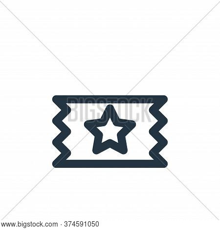ticket icon isolated on white background from multimedia collection. ticket icon trendy and modern t