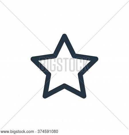 star icon isolated on white background from marketing business collection. star icon trendy and mode