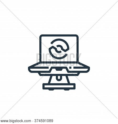 laptop icon isolated on white background from recycling collection. laptop icon trendy and modern la