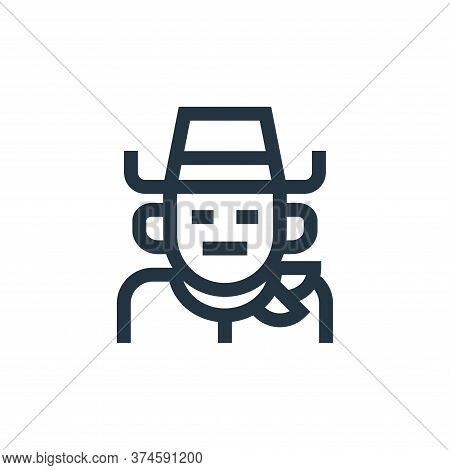 cowboy icon isolated on white background from fantastic characters collection. cowboy icon trendy an