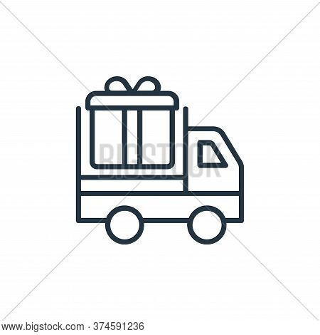 delivery truck icon isolated on white background from shopping line icons collection. delivery truck