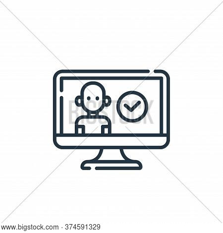user icon isolated on white background from database and servers collection. user icon trendy and mo