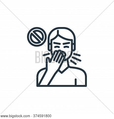 cough icon isolated on white background from virus transmission collection. cough icon trendy and mo