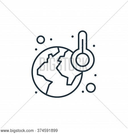 global warming icon isolated on white background from earth day collection. global warming icon tren