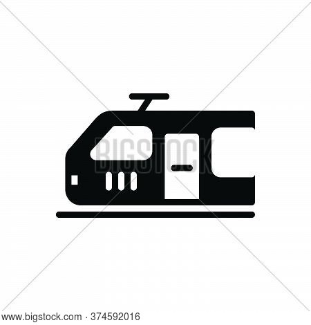 Black Solid Icon For Electric-engine Electric Engine Fuel  Transport Train Metro